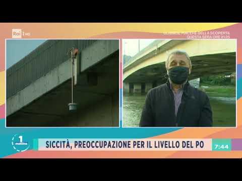 Siccità, fiume Pò ai minimi storici - Unomattina 16/09/2020