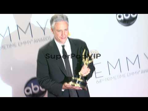 Jon Stewart at 64th Primetime Emmy Awards - Photo Room on...