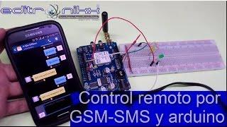 Control remoto por GSM SMS y arduino, GSM SMS Remote Control and arduino