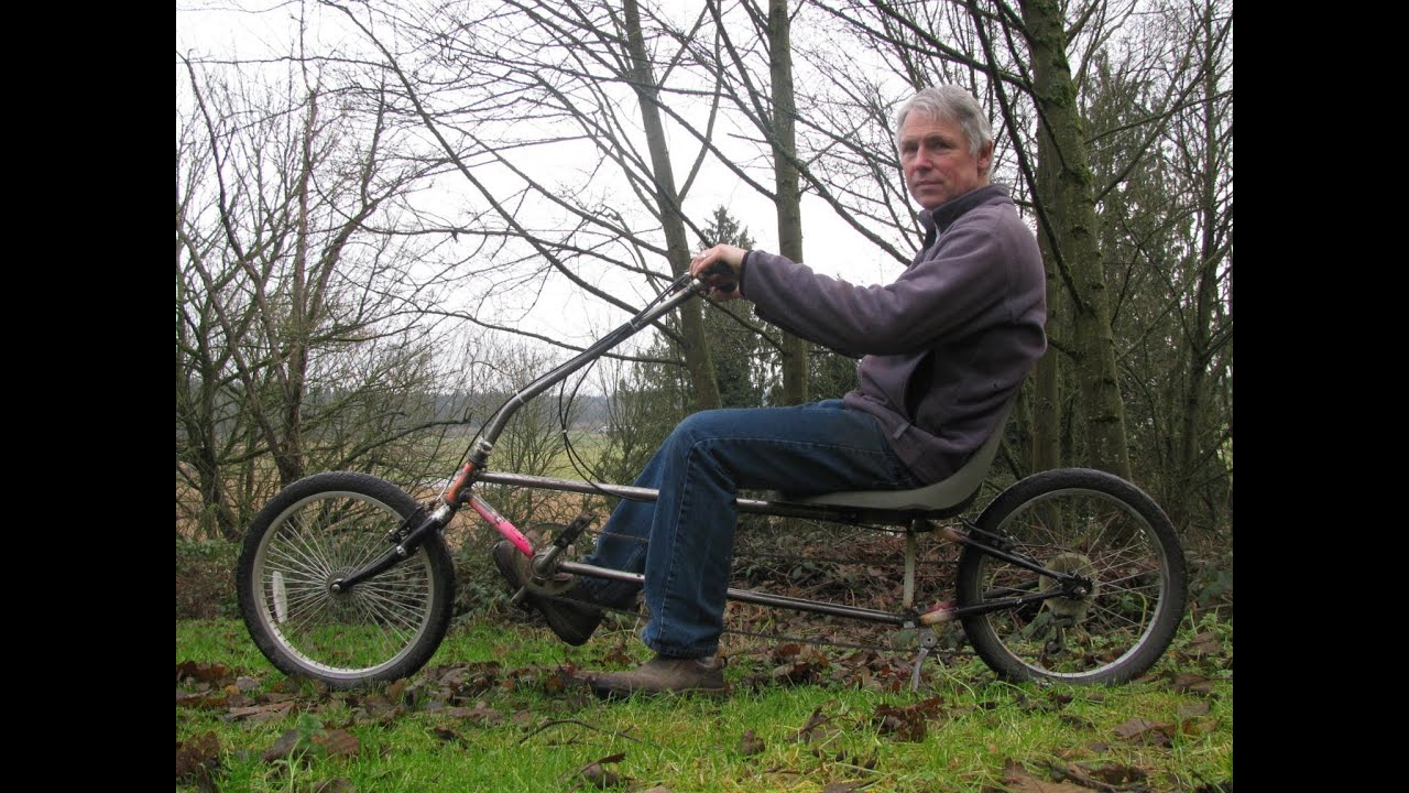 Diy Recumbent Bicycle Youtube