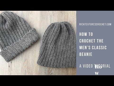 Men's Classic Beanie - Free Crochet Pattern