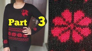 Easy Graph flower for Girls Sweater (part 3) #22 | New Knitting Design/pattern | Knitting Pattern |