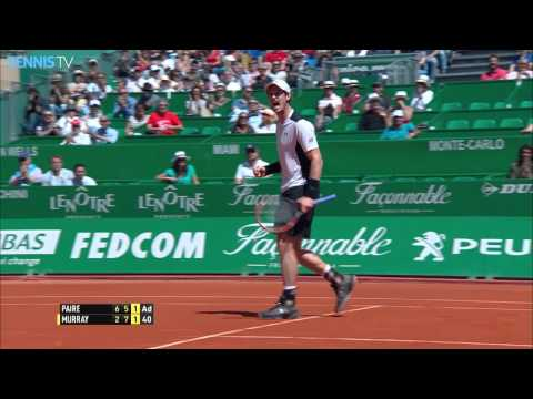 Amazing Andy Murray half-volley at 2016 Monte-Carlo Rolex Masters