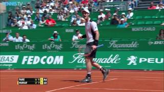 Amazing Andy Murray half-volley at 2016 Monte-Carlo Rolex Masters Video