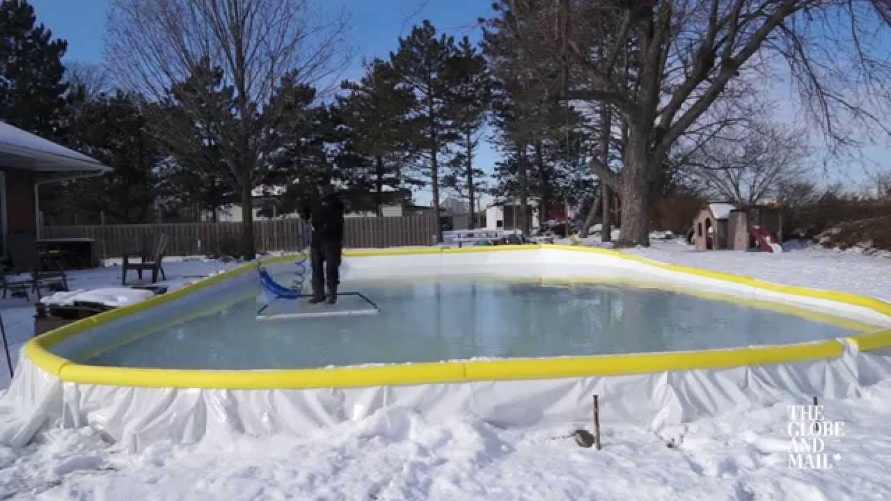 Three Tips For Keeping Your Backyard Rink Smooth All Winter Long   YouTube