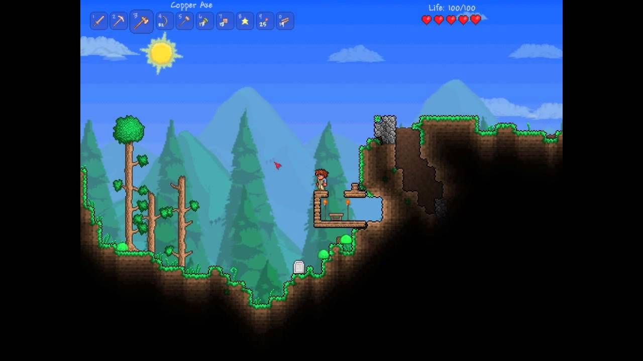 Terraria Craftingwooden Bow And Wooden Arrows