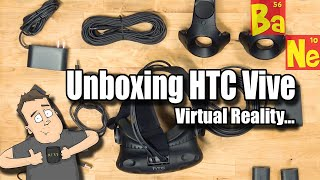 Multicam unboxing of HTC Vive Virtual Reality headset in the new and improved Nerd Cave gaming room