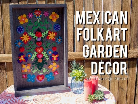 Mexican Folk Art Inspired Felt Garden Decor