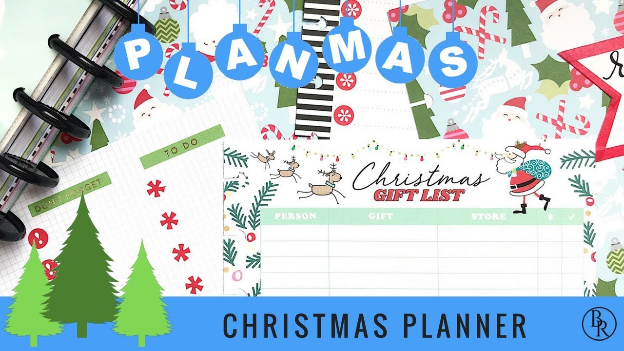 Plan with Me: Christmas Planner Section // PLANMAS Day 6 | Plans by ...