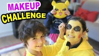 MAKEUP CHALLENGE special CARNAVAL - Les ENFANTS maquillent les PARENTS en POKEMON PIKACHU 😀😀😀