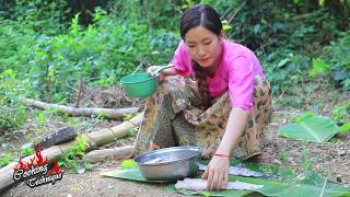 Cooking Technique: Cooking Big Fish Salad Recipe For Dinner in My Village