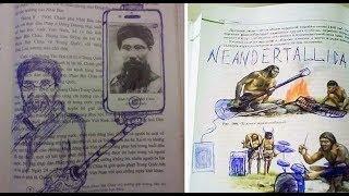15 estudiantes que estuvieron tan aburridos que crearon obras maestras en sus libros de escuela