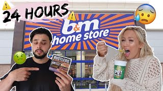 We only ate B&M FOOD for 24 HOURS CHALLENGE!
