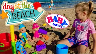 🏖Baby Born Twins At The Beach! 🌈Emma & Ethan Have Fun At The Beach In Hawaii With Skye & Caden!🌴