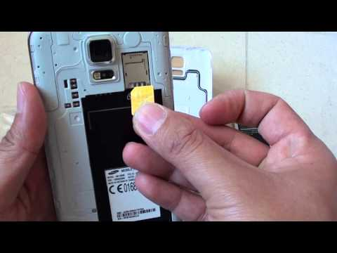 Samsung Galaxy S5: How to Insert SIM Card