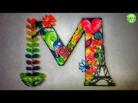 Quilled Letter M | quilling of letter | easy to quill but LOOKS BEAUTIFUL | Quilling gift