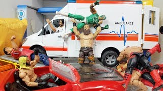 AMBULANCE PLAYSET FOR WWE FIGURES + MORE