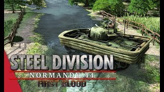 A Duck To Water! Steel Division: Normandy 44 Gameplay (Merderet, 2v2)