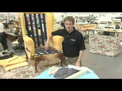 Reupholstery Of A Queen Anne Fireside Chair Youtube