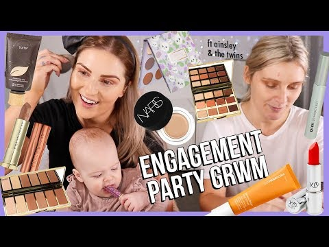 GRWM, My Cousin & The Twins! 😋💕 MY ENGAGEMENT PARTY thumbnail