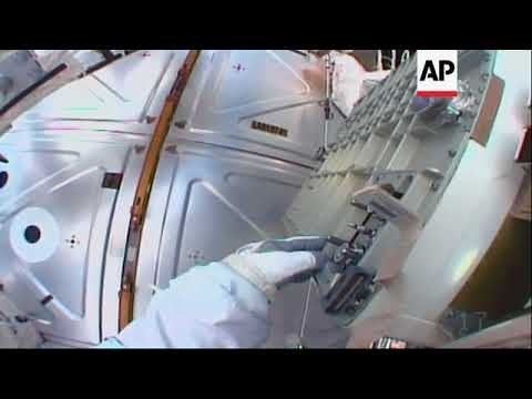 Astronauts Swap Cooling Pumps During Spacewalk