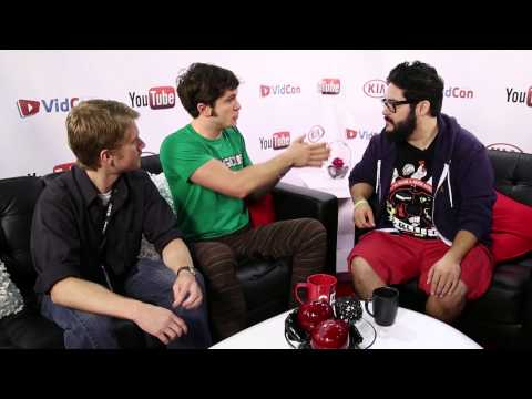 Toby Turner and Eric Lewis Backstage at VidCon 2013 with Sourcefed!