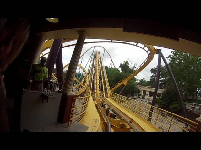 Georgia Scorcher Front Row POV Six Flags Over Georgia