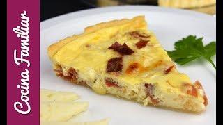 Quiché de jamón y queso manchego, explosión de sabor | Recetas de Javier Romero