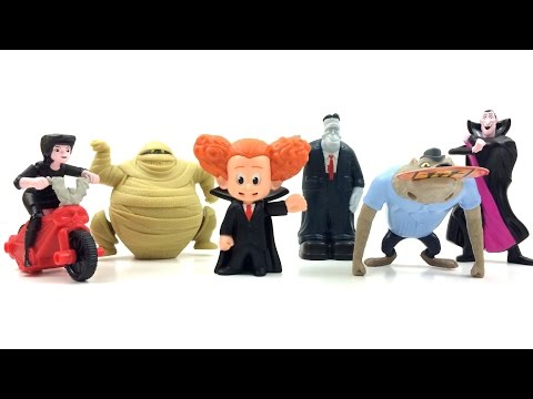 2015 MCDONALD'S HOTEL TRANSYLVANIA 2 MOVIE COMPLETE SET OF 6 HAPPY MEAL KIDS TOYS REVIEW
