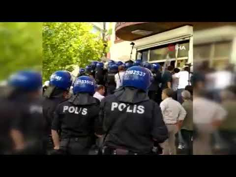HDP önünde açıklama yapmak isteyen grup polise saldırdı
