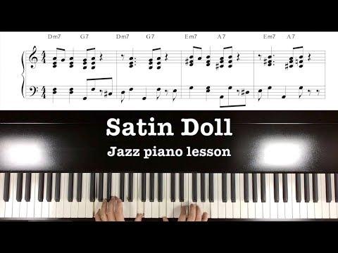 "Play jazz piano easily ""Satin Doll"" Tutorial part 1"