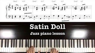 """""""Satin Doll""""  Jazz Piano Tutorial part 1"""