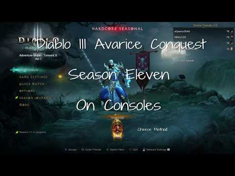 Diablo III - Consoles - Season 11 - Avarice Conquest Easy Method