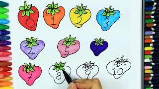 Come disegnare fragola 🍓 | Colori per bambini | Come faccio a colorare | Disegno per bambini