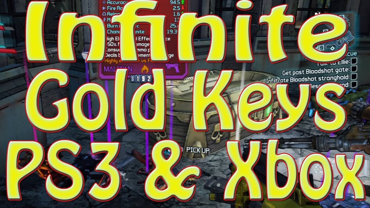 Video - Borderlands 2 GLITCH Unlimited Golden Keys ( PS3 & XBOX