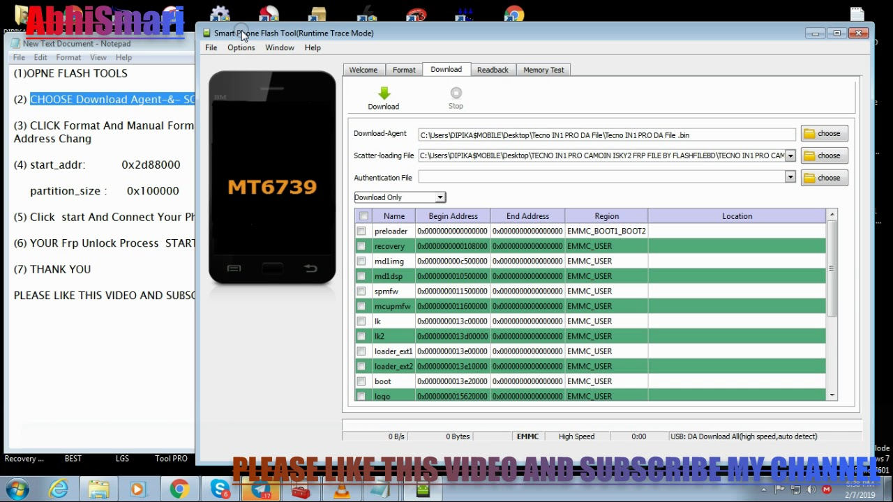 TECNO IN1 PRO FRP UNLOCK DONE WITH SP FLASH TOOLS