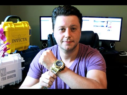 ae908151738 Invicta BOLT ZEUS 12737 Gold Plated 18k Gold MOP Watch Review - YouTube