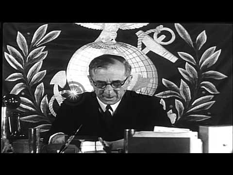 Major General Smedley Butler bares plot by 'Fascists' in Newtown Square Pennsylva...HD Stock Footage