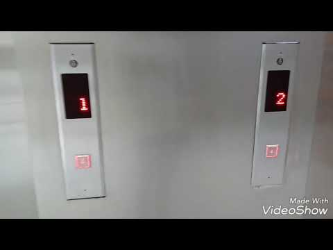 2 Thyssenkrupp service elevators at Aeon Mall Foshan Guangdong China