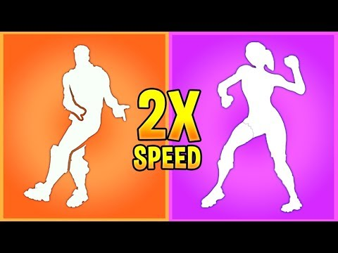 I Played My Fortnite Emotes In 2x Speed And They Sounded *BETTER*