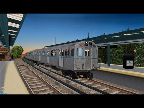 OpenBVE HD: Chasing NYC Subway R38 Pre-GOH (Westinghouse) Q Express Train to Coney Island
