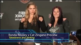 bjj scout ronda rousey v cat zingano ufc 184 preview takedowns and striking
