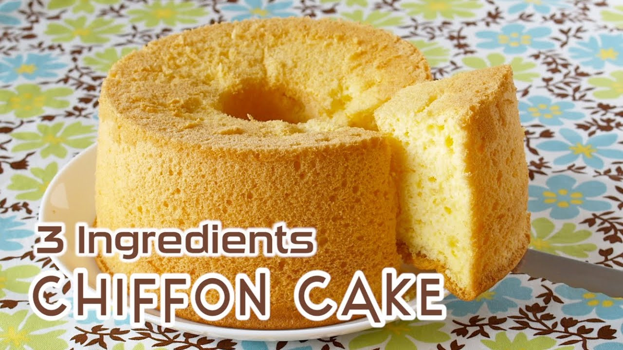 Cake Recipes With Pictures And Ingredients : 3-Ingredient Chiffon Cake ??3???????????? - OCHIKERON ...