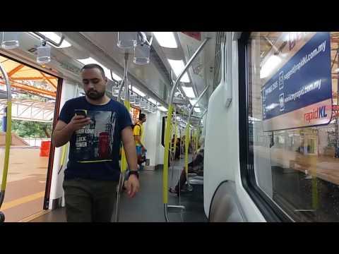 "RapidKL CSR Zhuzhou ""AMY"" Ride On LRT Laluan Sri Petaling From Sri Petaling To Masjid Jamek [425]"