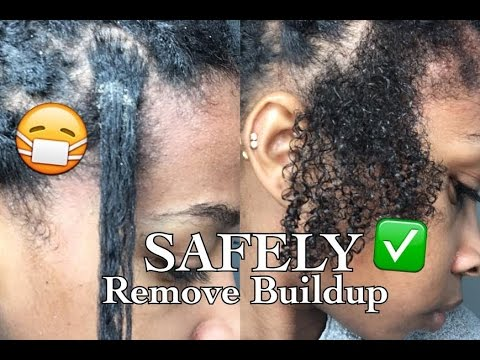 How to SAFELY Remove Dirt/ Buildup from Braids/Twists