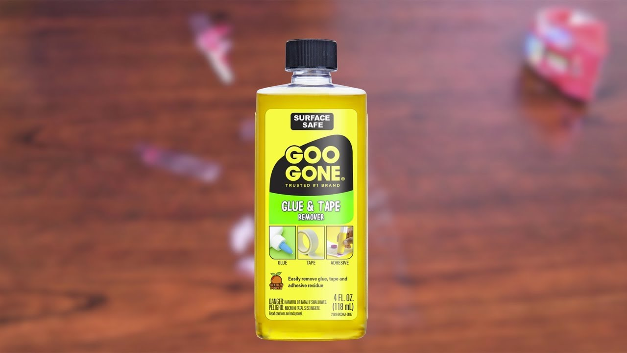 remove sticky tape residue with goo gone glue and tape remover youtube. Black Bedroom Furniture Sets. Home Design Ideas
