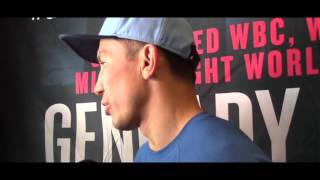 GENNADY GOLOVKIN  - 'I LIKE MY STYLE, ITS THE BIG DRAMA SHOW. BROOK IS GOOD TEST / GOLOVKIN v BROOK