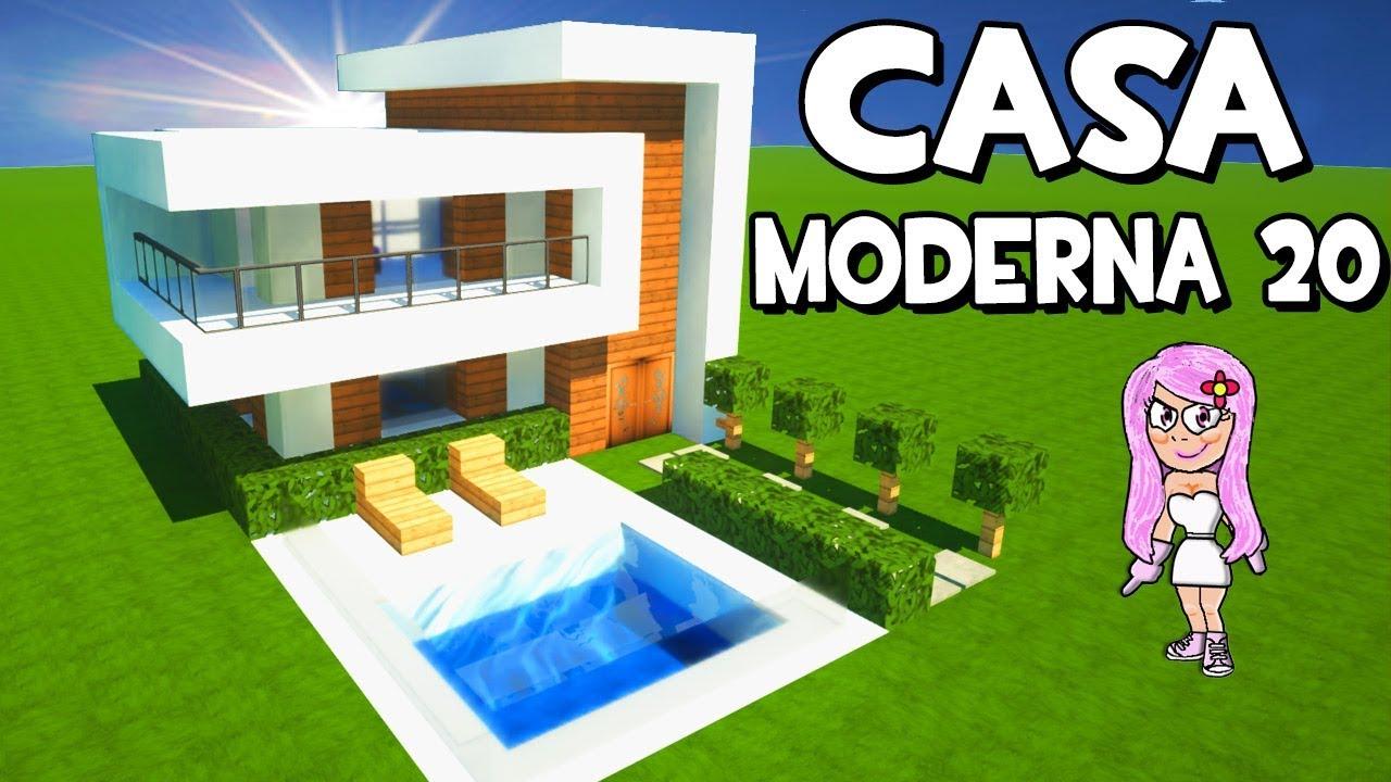 Como construir la casa moderna 20 en minecraft tutorial for La casa moderna