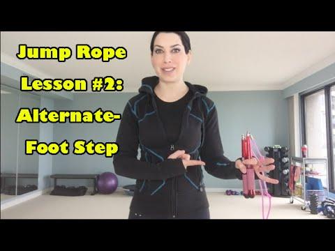 Jump Rope Lesson 2 Alternate Foot Step