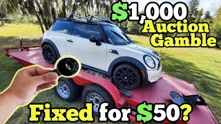 Someone TAMPERED with our $1,000 MINI Cooper at Auction! Can a $50 Hack Bring it Back to Life?